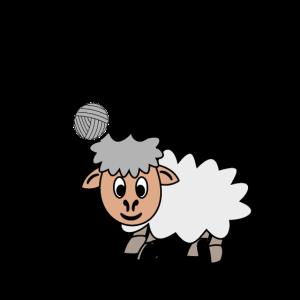Komme was Wolle ich Schaf das. Lustiger Spruch