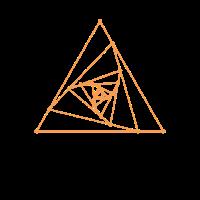 Heilige Geometrie Spirale Dreiecke Graphic Yog