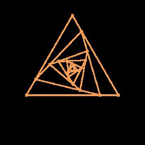 Heilige Geometrie-gewundene Dreieck-Grafik