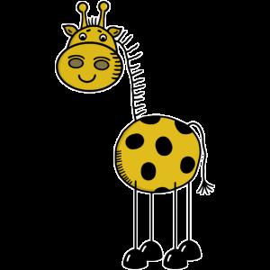 Afrika Safari Wildnis - Große Giraffe