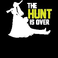 Die Jagd ist Zu Ende I JGA T-Shirt Braut Bräutigam