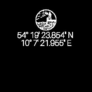 Kiel Koordinaten Leuchtturm Geschenk Geschenkidee