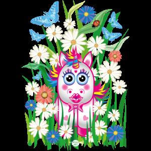 18 Blumen Baby Einhorn Kussmund Marienkäfer