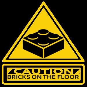 CAUTION BRICKS ON THE FLOOR! Bausteine Geschenk