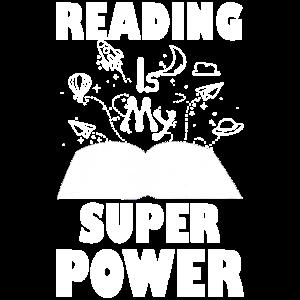 Lesen ist mein Superpower Funny Books Romane lesen