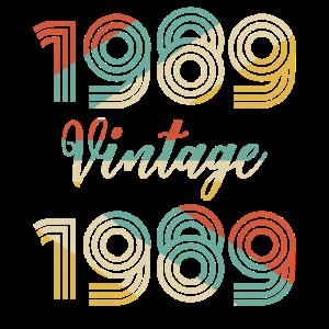 30. Geburtstag Jahrgang 1989 T-Shirt Klassiker