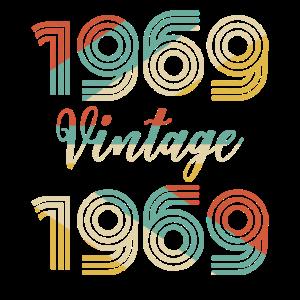 50. Geburtstag Vintage 1969 T-Shirt Klassiker