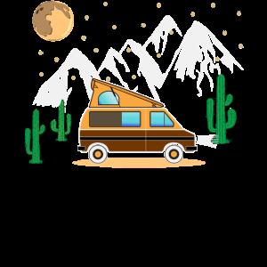 Camper Camping Bus mit Faltdach