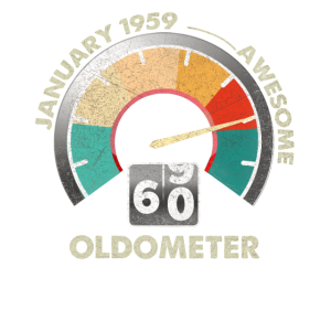 60. Geburtstagsgeschenk Vintage Januar Oldometer