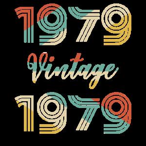 40. Geburtstag Vintage 1979 T-Shirt Klassiker