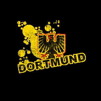 Dortmund Adlermotiv - Das perfekte Motiv um die liebe zur Stadt Dortmund und/oder zum Fußball auszudrücken. Ideal für jeden Fan und jeden Anlass - ole,football,bvb,borussia,Fußball,Fussball,Dortmund,Deutschland,Bundesliga