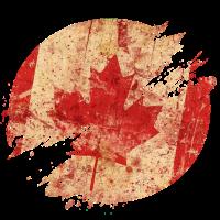 Kanada Vintage Flagge / Geschenk Toronto Retro