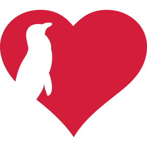 Pinguin im Herz