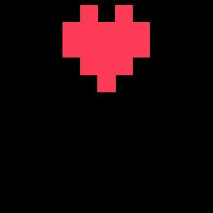Pixeliertes Herz