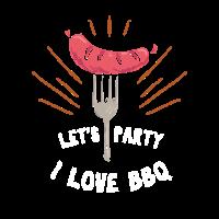 I LOVE BBQ Geschenk Lets Party Geschenk