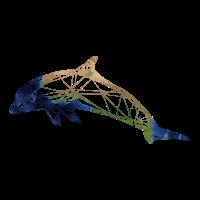 delphin | illustration zeichnung grafik dreiecke