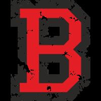 Buchstabe B (Used Look) Schwarz/Rot