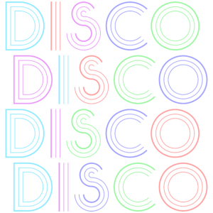 Disco Vintage Style Geschenk