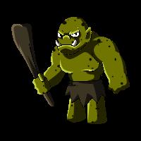 Troll mit Keule, geschenk fabelwesen riese monster