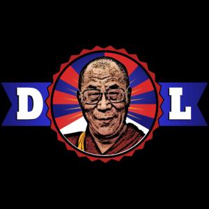 Dalai Lama 100% Tibetan Quality (Schwarze Schrift)