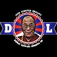 Dalai Lama 100% Tibetan Quality (Weiße Schrift)