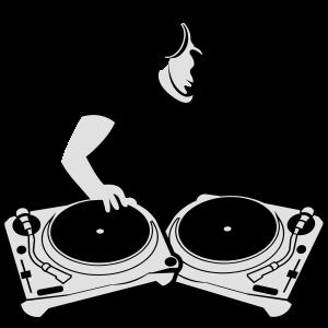 DJ mit Turntables