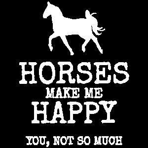 Pferd Happy Reiten Lustig Geschenk