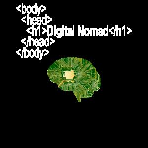 DIGITAL NOMAD SOCIAL MEDIA Geschenk Brain Online