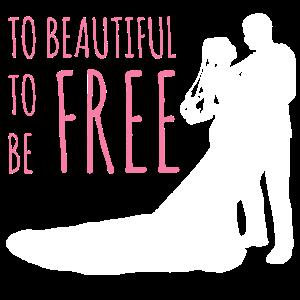 Zu schön Braut Geschenkidee Hochzeit Junggesellin
