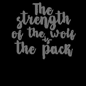 Die Stärke des Wolfes ist das Rudel