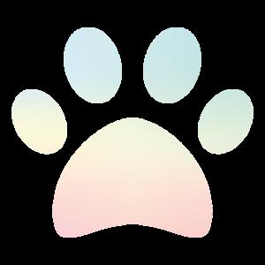 Pfote Pastell Hunde Hundeliebhaber Geschenk