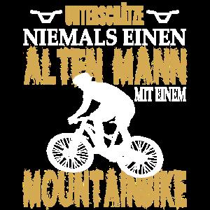 Unterschätze niemals alten Mann mit Mountainbike