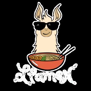 Ramen Lama Llama Alpaka Lustig Süß Geschenk Geek