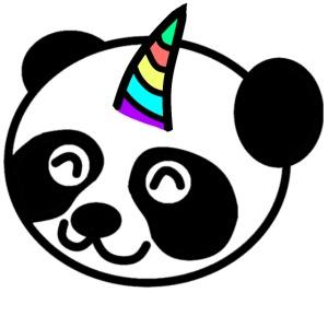 Regenbogen Panda Einhorn