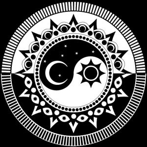 Yin Yang Dualität Sun Moon Mandala