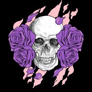 Schädel Floral