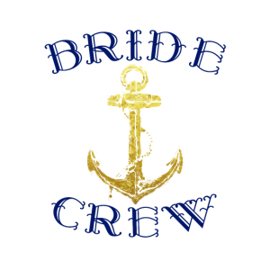 Braut Crew mit Anker Motiv junggesellin Geschenk