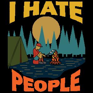 I Hate People Camping Pfadfinder Berge Geschenk