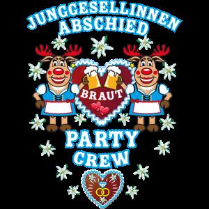 257 Bayern JGA Hirsche Braut Party Crew Rudolphine