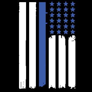Dünne blaue Linie | Polizei USA Flagge Einsatz