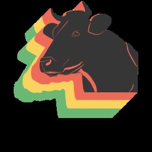 Stier Bulle Kuh Retro Landwirt Grunge