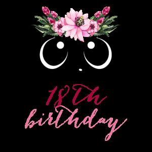 Panda Girl 18. Geburtstag 18 Jahre Kostüm Geschenk