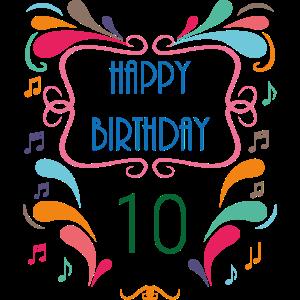 10. Geburtstag Jahre Geschenk Birthday Ehrentag
