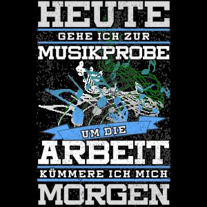 Blaskapelle Blasmusik Noten Shirt Geschenk