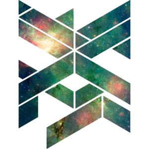 Galaxie Geometische Form