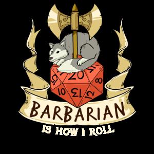 Barbar Würfel Verliese Drachen RPG Kerker Spiel