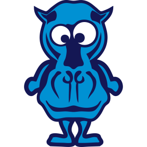Nilpferd lustige Tiere Gesicht Cartoon