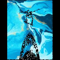 Skater Hai Kunst Geschenk abstrakt