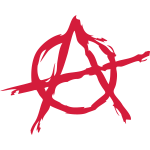 Anarchy symbol chaos rebel revolution punk fighter