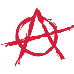 Anarchie Symbol Chaos rebel Revolution Punk Kampf